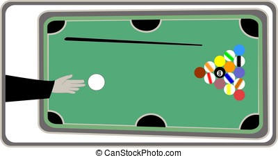 Billiard or pool billiard sport or game - Pocket billiard or...
