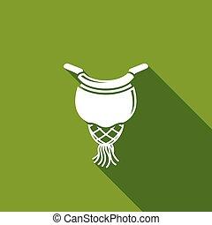 Billiard pocket icon. Vector Illustration