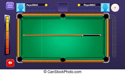 Billiard Pool Mobile Game Complete GUI Set - Assets