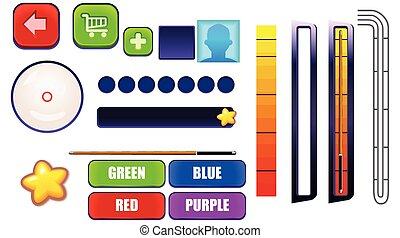 Billiard Pool Mobile Game GUI Set - Assets