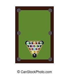 Billiard pool with balls