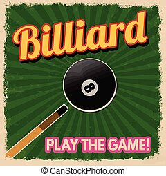 Billiard retro poster