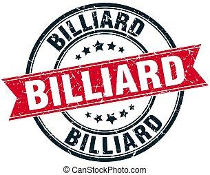 billiard round grunge ribbon stamp