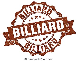 billiard stamp. sign. seal