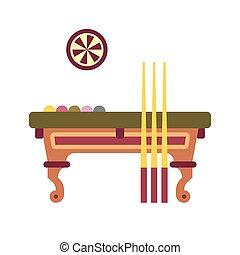 Billiard Table Flat Icon