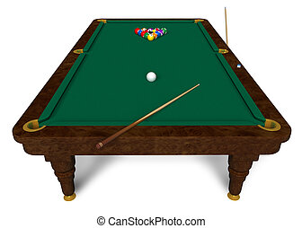 Billiard Table Stock Illustrationby