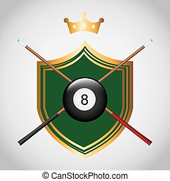billiard tournament design, vector illustration eps10...