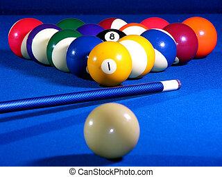billiard, vida, todavía