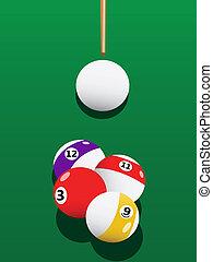 Billiards aiming