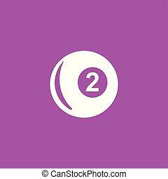 Billiards ball icon illustration.