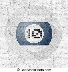 billiards ball number teen symbol