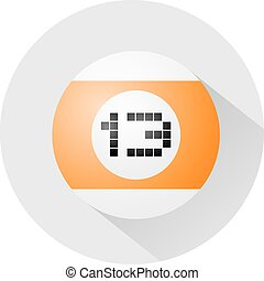 billiards ball number thirteen symbol - Creative design of...