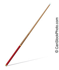 billiards cue vector illustration isolated on white...