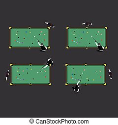 Billiards game table equipment vector. - Billiards table ...