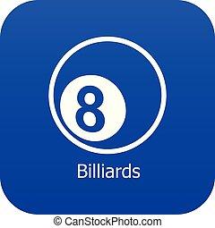 Billiards icon blue vector