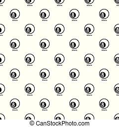 Billiards pattern vector seamless