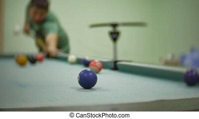 billiards pool 8. old the pool billiards hit balls in...