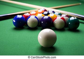 Billiards pool - Billiard table and balls