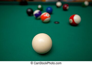 Billiards - Pool game situation