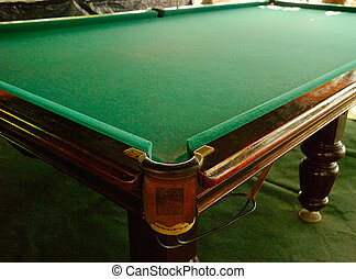 Billiards Table - Big worn wooden table for russian ...