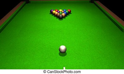 Billiards. The impact on the cue ball