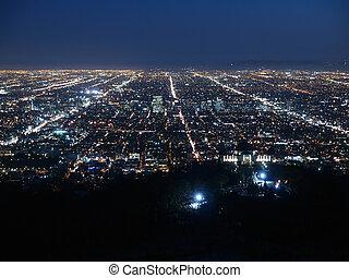 Billion Lights - A billion city lights glow brightly in Los...