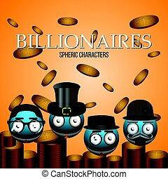 billonario, conjunto, emotes