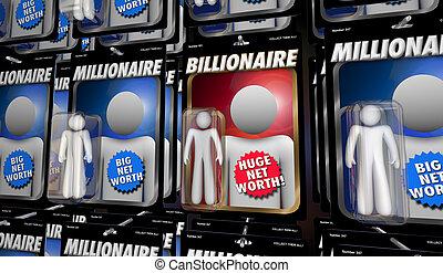 billonario, marca, ilustración, millionaires, más, dinero, ...
