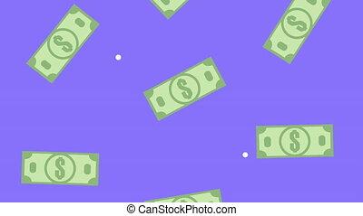 bills money dollars pattern animation,4k video animated
