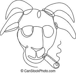 Billy-goat-sunglasses-cigar-CLINE