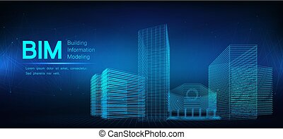 BIM - building information modeling. The concept of business...