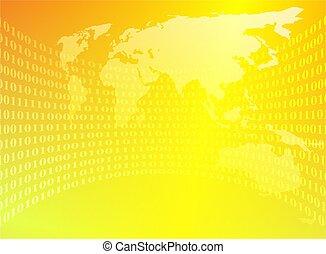 binário, mundo