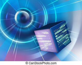 binär, kub