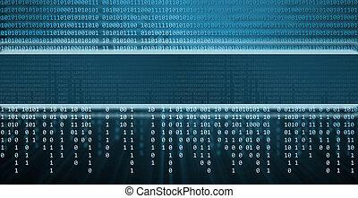 binär, teknologi, kodex, bakgrund