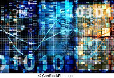 binärcode, digital