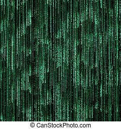 binärcode, schwarz, grüner hintergrund