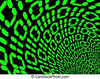 binärer, code.