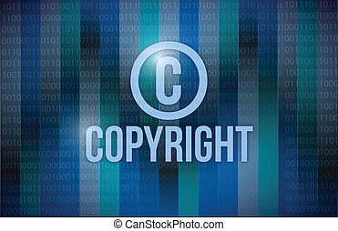 binärer, design, copyright, abbildung