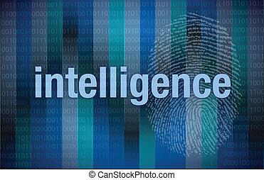 binärer, intelligenz, digital