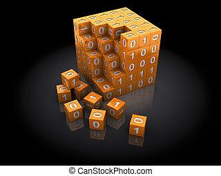 binärer, puzzel