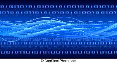 binärer, ströme