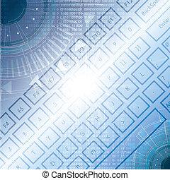 binärer, tastatur, llustration, zahl, hochtechnologisch