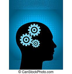 binære, menneske, digitale