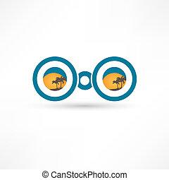 binóculos, ícone