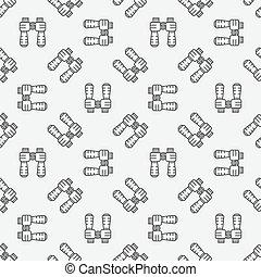 binóculos, seamless, padrão