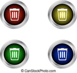 Bin button label isolated