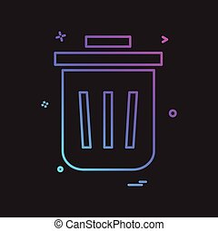 Bin  dustbin  full  garbage  recycle trash icon vector design