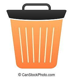 Bin flat icon. Trash color icons in trendy flat style. Bucket gradient style design, designed for web and app. Eps 10.
