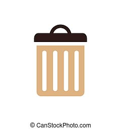 bin icon brown color