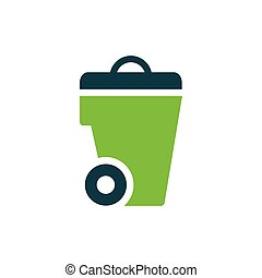 bin icon design green